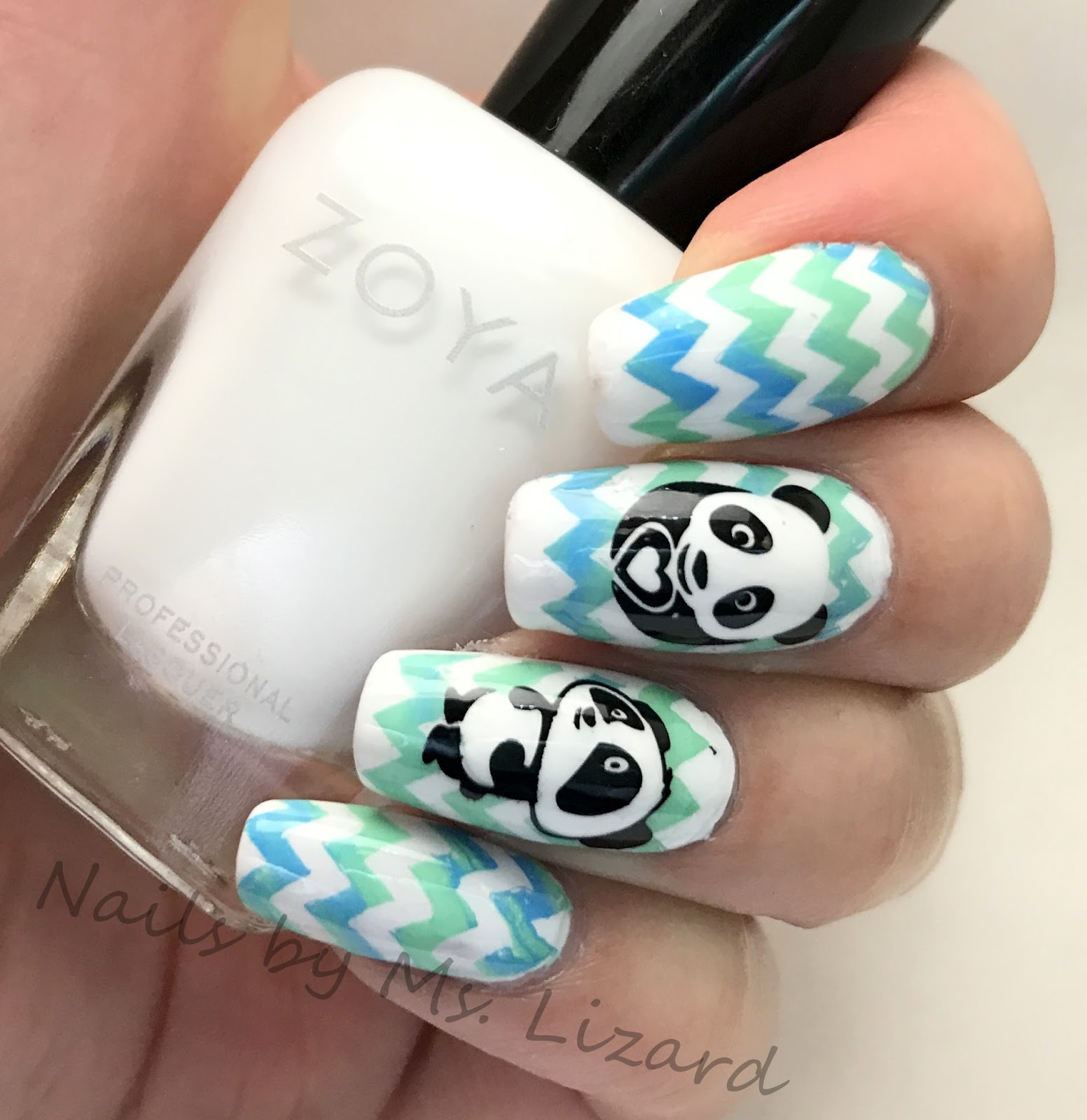 Nails by ms lizard born pretty store stamping plate cute panda base zoya purity prinsesfo Images