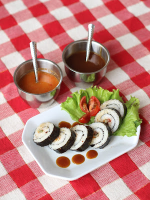 sushi, Suhi babi panggang, Sushi Roll babi panggang, Sushi Roll Jogja
