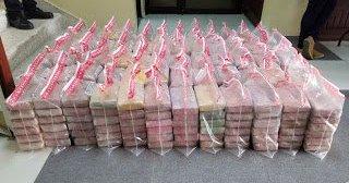 Ocupan otros 408 kilos de cocaína