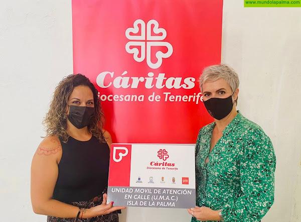 Fundación DinoSolha donado más de 18.000 kilos de comida a Cáritas en La Palma