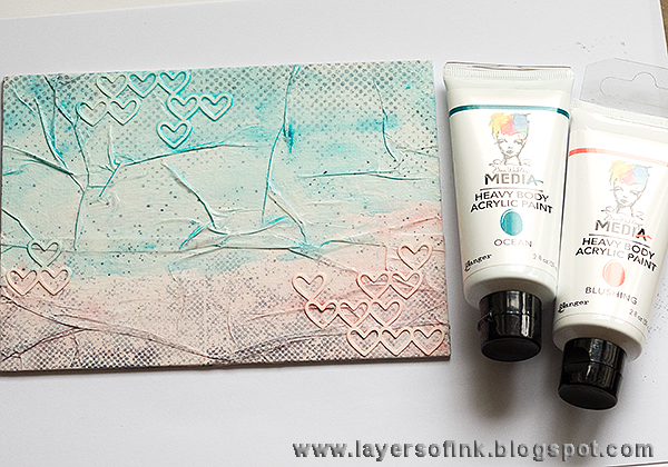 Layers of ink - Because You have a Song tutorial by Anna-Karin with Scribbly Birdies by Dina Wakley and Ranger.