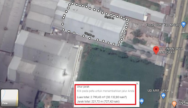 Cara Mengukur Luas Tanah Menggunakan Google Maps-2
