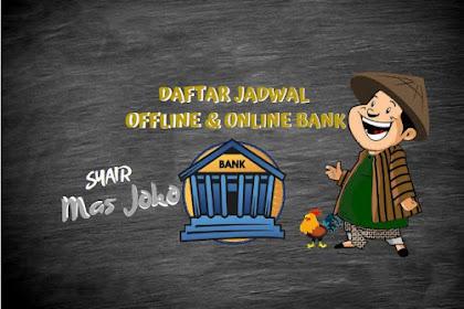 Jadwal Waktu Offline dan Online Bank di Indonesia Terbaru 2020