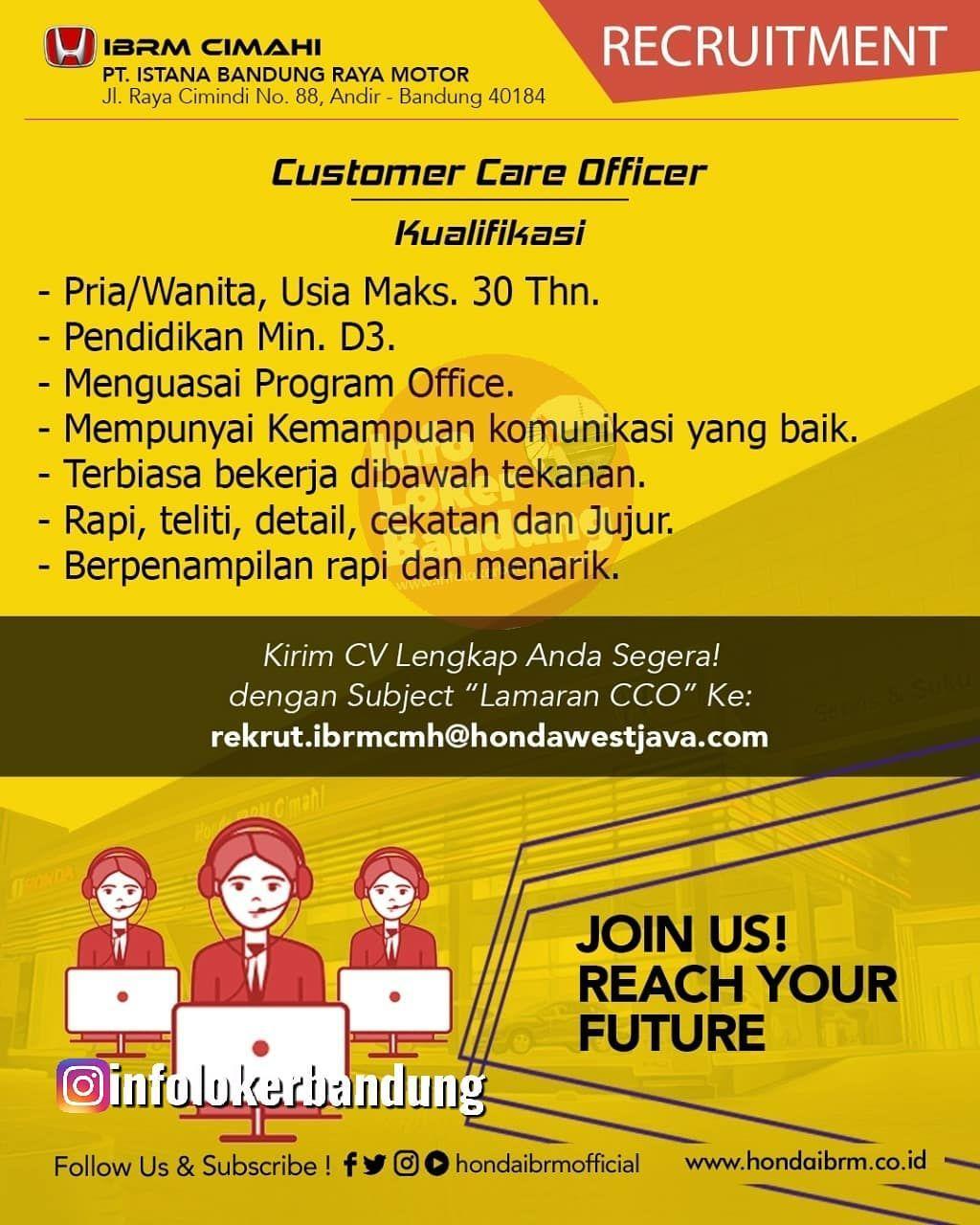 Lowongan Kerja Honda IBRM Cimahi Januari 2020