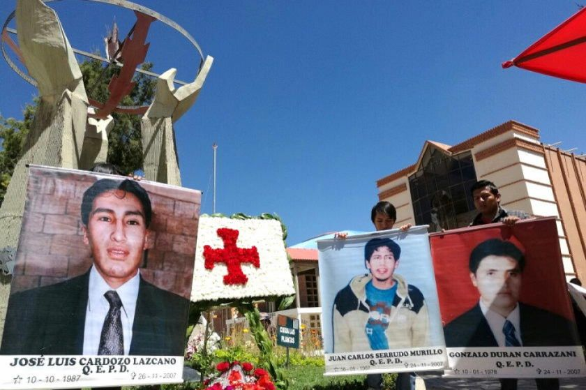 Diputado Poppe denunció al Estado Plurinacional por las tres muertes de 2007 / ARCHIVOS