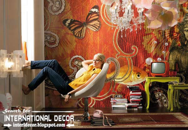 wall murals wallpaper, wall covering ideas, butterfly wall mural