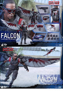 Captain America Civil War, hot toys, toys, Marvel, Captain America, Hot Toys War Falcon Figure