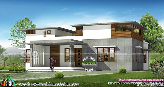 1550 sq-ft 3 bedroom flat roof contemporary home