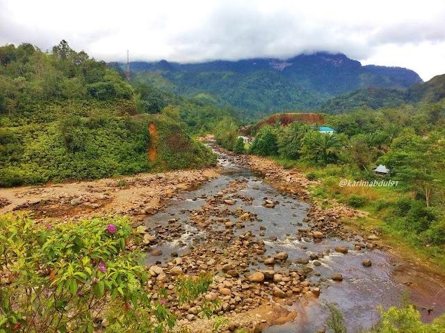 Aliran Sungai dari PLTA Sipan Sihaporas Sibolga