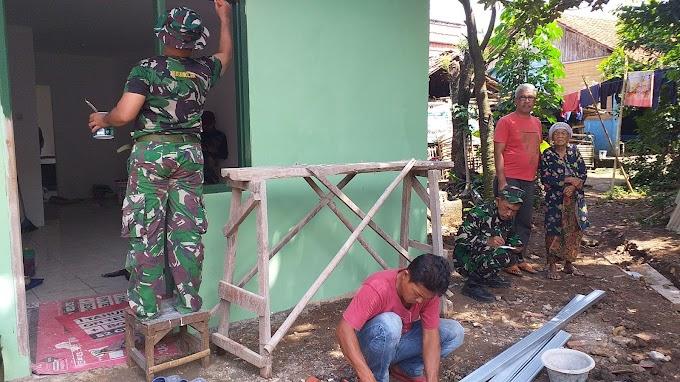 Berkat Perjuangan TNI. Akhirnya Rumah Halimah Diperbaiki