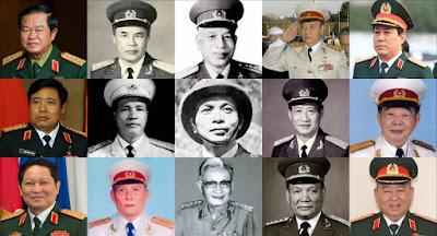 Danh sách Đại tướng Quân đội Nhân dân Việt Nam