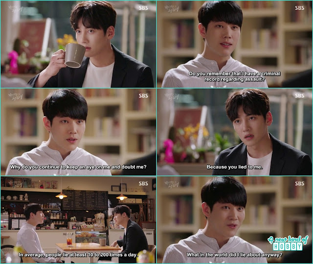hyun soo called ji wook and ask why he is tailing and investigating him -  Suspicious Partner: Episode 19 & 20 korean Drama