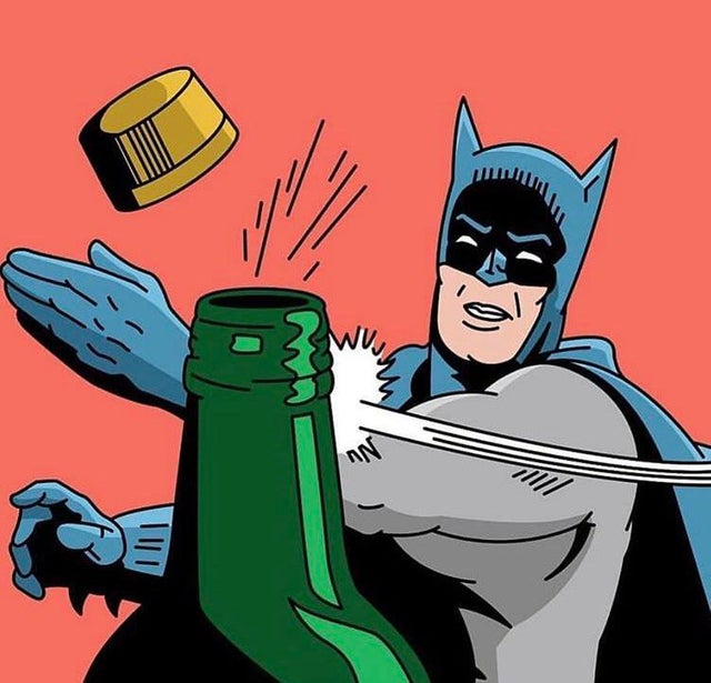 Batman's flipped his lid 😆