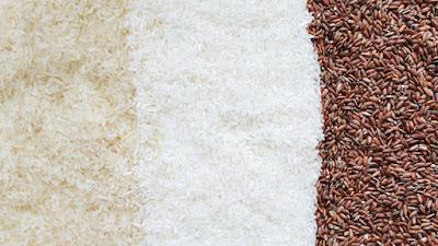 القيمة الغذائية للأرز الأبيض لكل 100 جرام