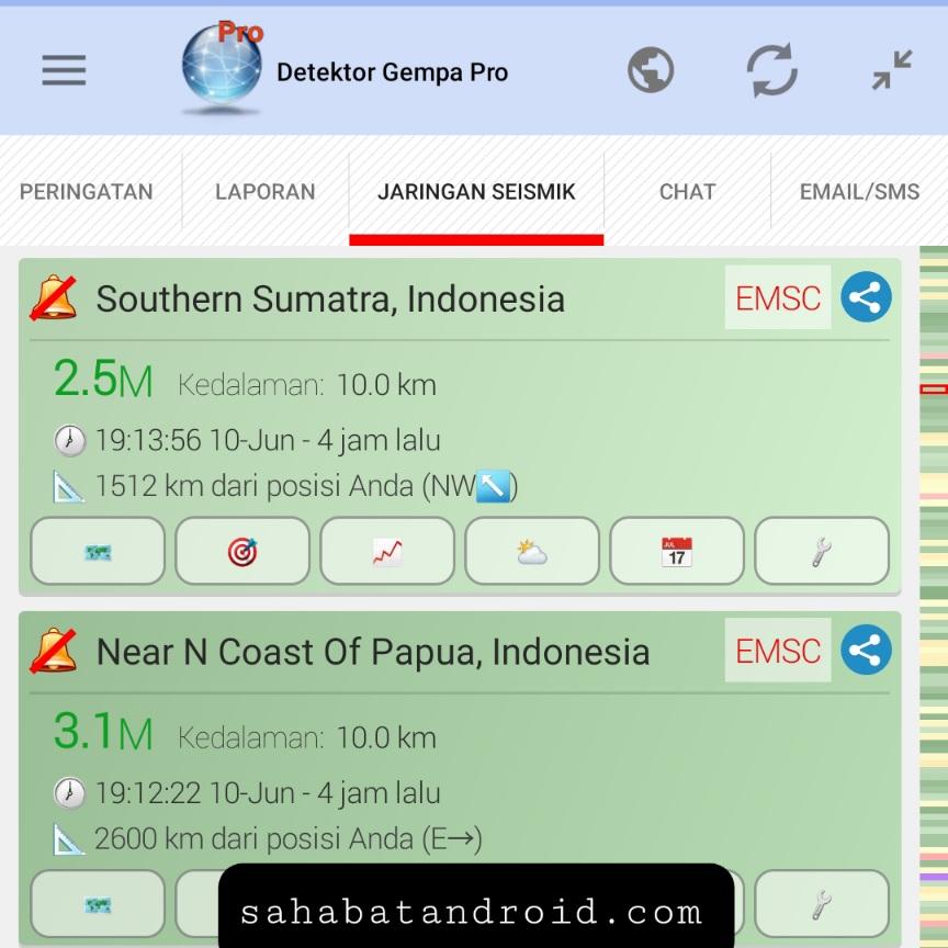 Pendeteksi gempa paling realtime