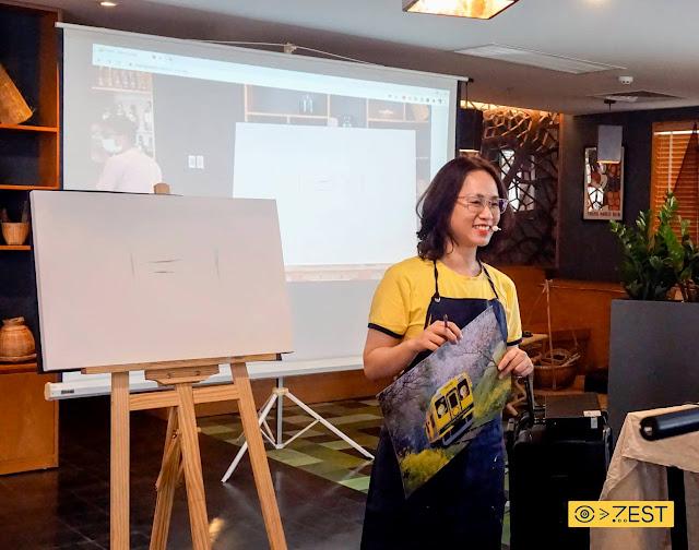 workshop vẽ tranh acrylic tại tphcm zest art