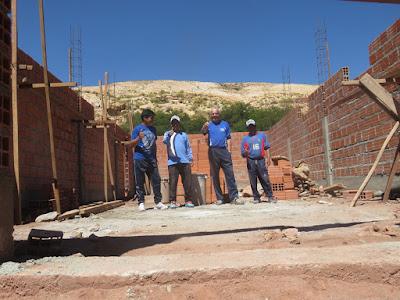 Derweil wird in Casa Grande zügig an der Kapelle gebaut