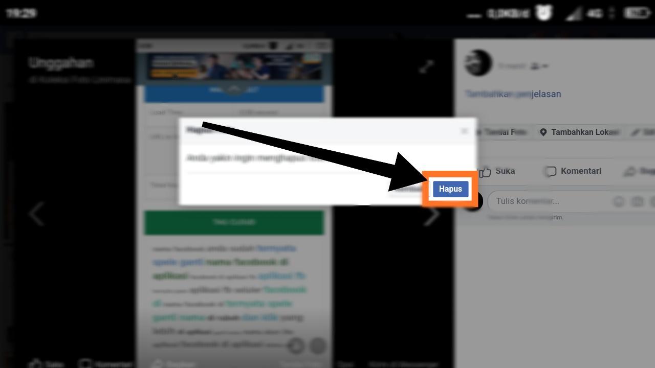 cara menghapus semua foto di facebook lite sekaligus lewat hp