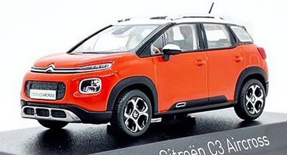 all new citroen c3 aircross leaked through scale model. Black Bedroom Furniture Sets. Home Design Ideas