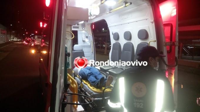 Motorista foge após atropelar motociclista na capital