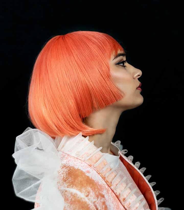 color de pelo rosa neon - salmon 2020