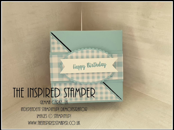 Stampin'Up! Split Triangle gift box