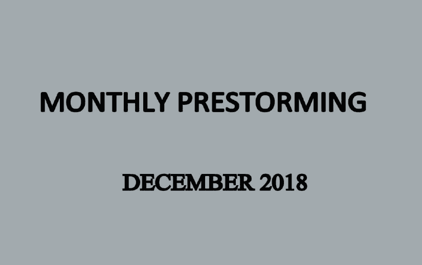 UPSC Monthly Prestorming - December 2018 for UPSC Pre 2019