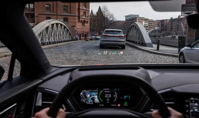 Audi shows the Q4 E-Tron augmented reality screen