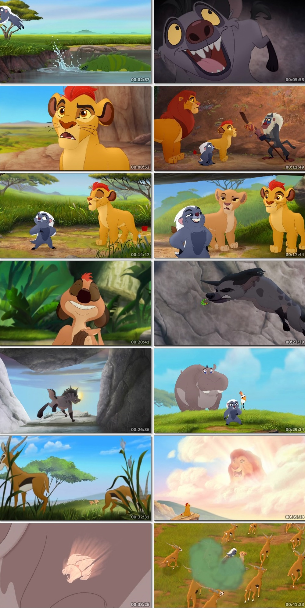Screen Shot Of The Lion Guard: Return of the Roar 2015 In Hindi English Dual Audio Bluray