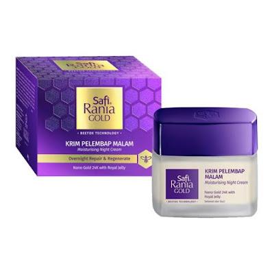 Krim malam Safi - Rania gold moisturizing night cream