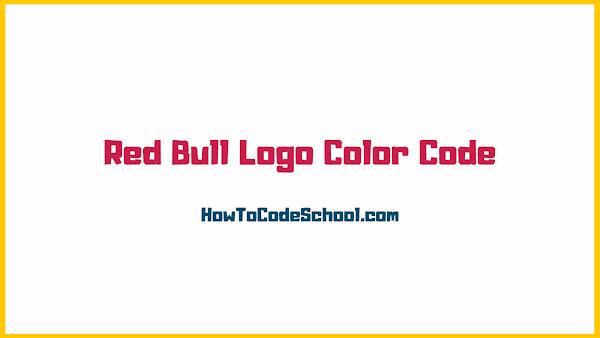 Red Bull Logo Color Code