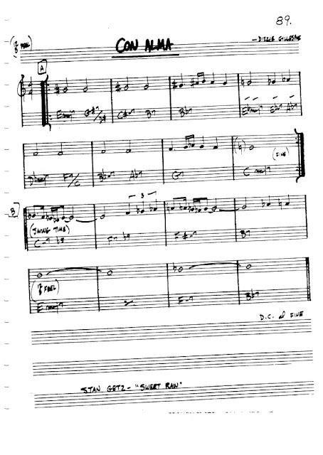 Partitura Flauta Dizzie Gillespie