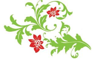 Motif bunga dan daun