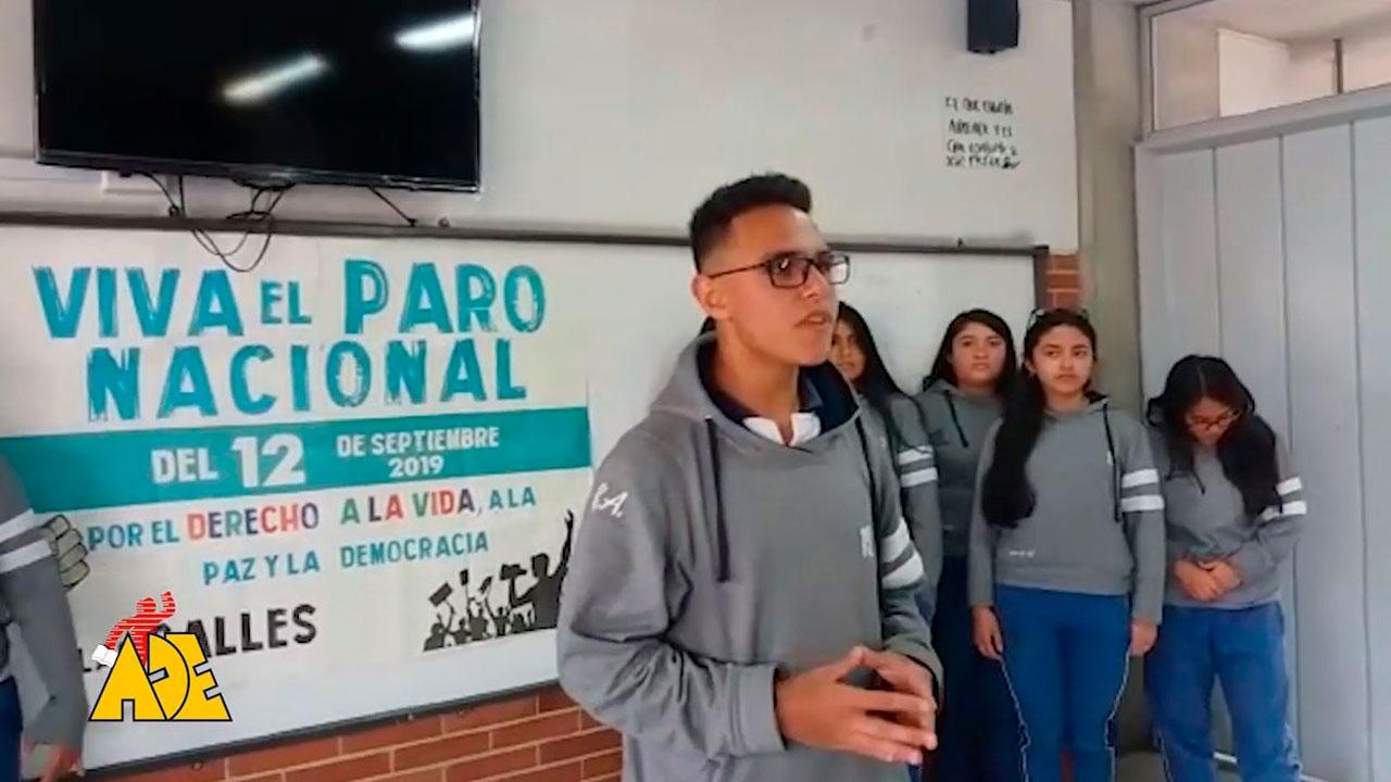 La unidad de estudiantes y maestros nos permite llenar las calles