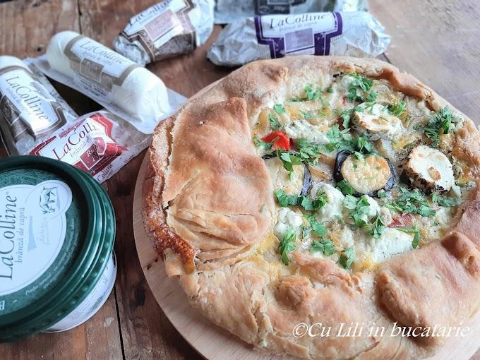 Tartă rustică cu legume și brânză de capră