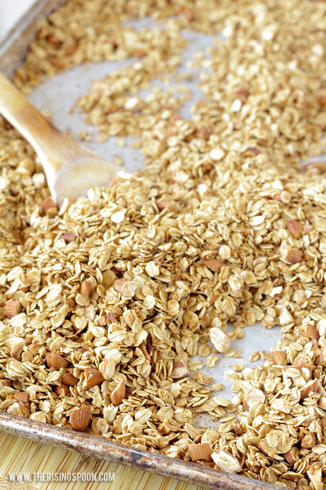 Homemade Maple Almond Coconut Oil Granola