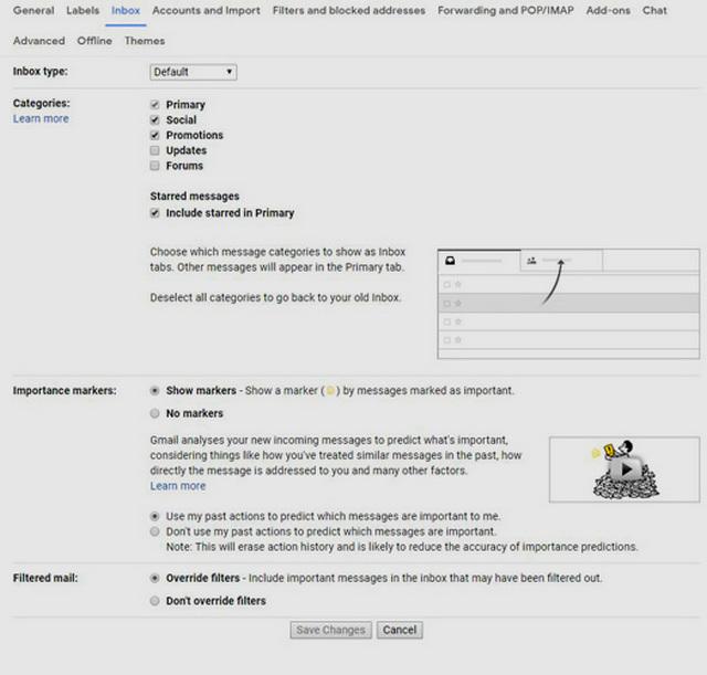 كيفية تنظيف وإدارة البريد الوارد في الجيميل Gmail