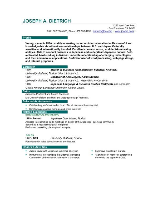 first resume examples first time resume examples first time