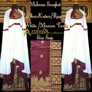 Harga Mukena Songket Prada Bali Paling Anyar  Maroon Turki