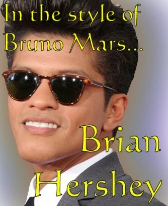 Brian Hershey, a Bruno Mars impersonator