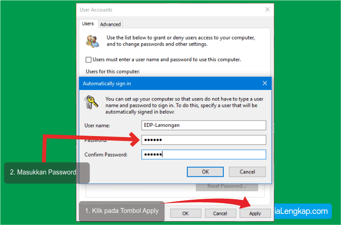 cara agar windows langsung masuk desktop