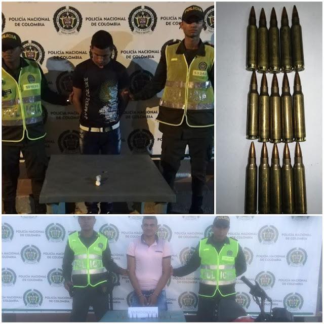 Uno tenía coca y el otro municiones para fusil