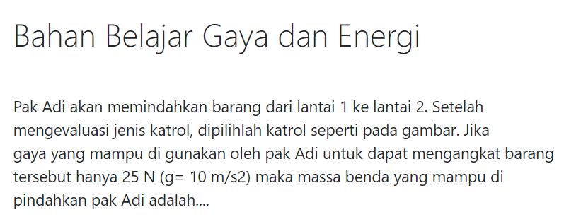 gambar Jawaban Kuis Gaya dan Energi Seri PPPK