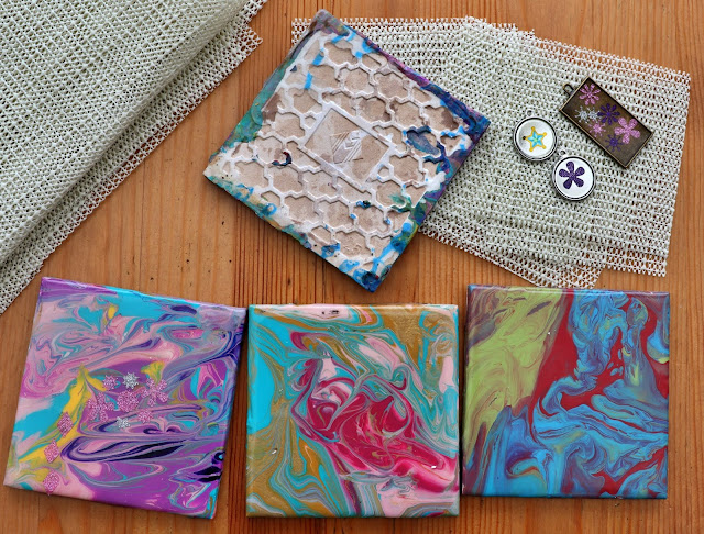 ceramic tiles turned into coasters