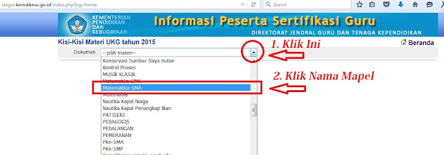 KISI-KISI UKG 2015