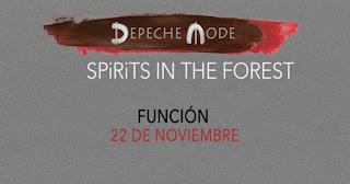 "Proyección de DESPECHE MODE ""Spirits in the forest"""
