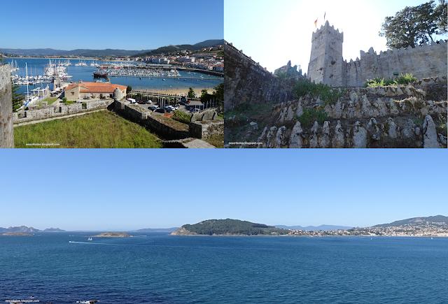 Viaje a Galicia: Fortaleza de Baiona, vistas del puerto, entrada y vistas desde otro ángulo