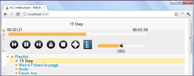 VLC-remote control playback