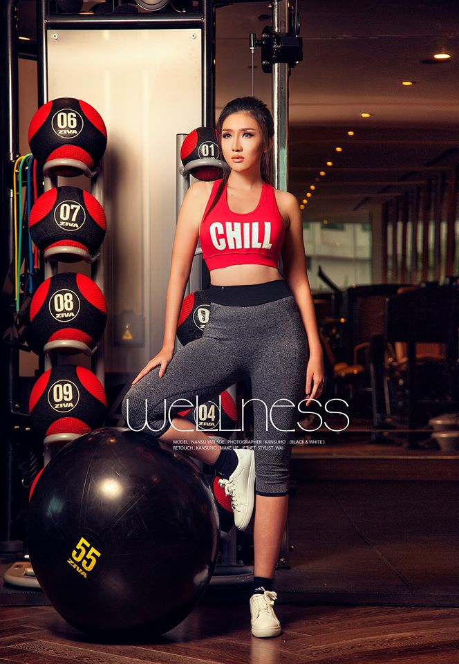 Nan Su Yati Soe Wellness Magazine Cover As Waring Fitness Fashion Wears
