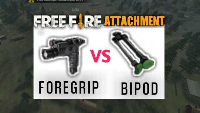 Bipod foregrip free fire